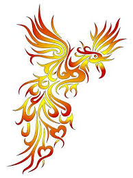 New Color Tribal Phoenix Tattoo Design