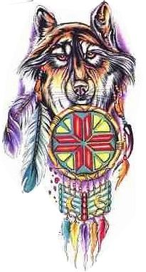 New Colorful Native American Tattoo Designs