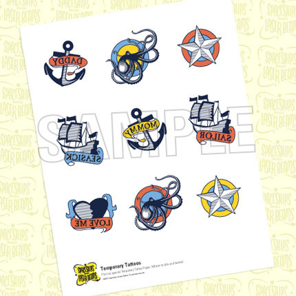 New Colorful Nautical Tattoos Sticker