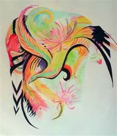 New Colorful Phoenix Tattoo Design