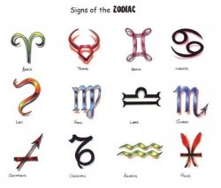 New Colorful Zodiac Symbol Tattoo Designs