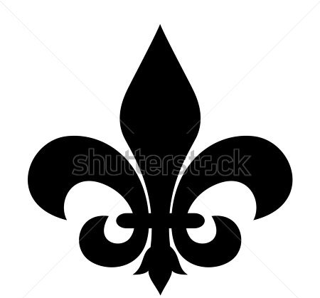 New Dark Black Fleur De Lis Symbol Tattoo Design