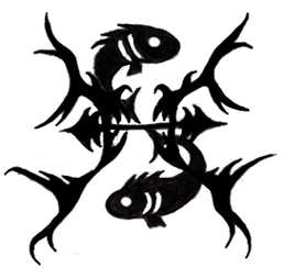 New Dark Black Pisces Tattoos
