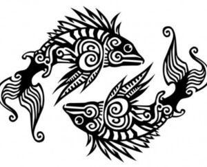 New Designer Fish Pisces Zodiac Tattoo Sample