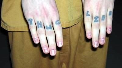 New Font Thug Life Finger Tattoos