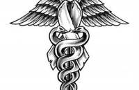 New Grey Ink Medical Symbol Tattoo Stencil