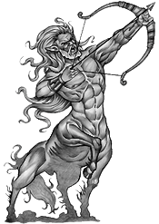 New Grey Zodiac Sagittarius Tattoo Design