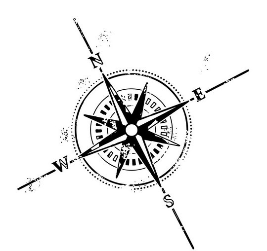 New Ink Nautical Compass Tattoo Design