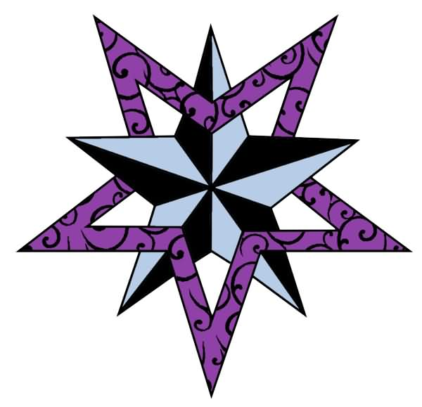 New Ink Nautical Star Tattoo Design