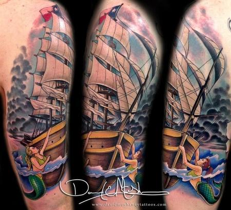New Ink Nautical Tattoos On Half Sleeve