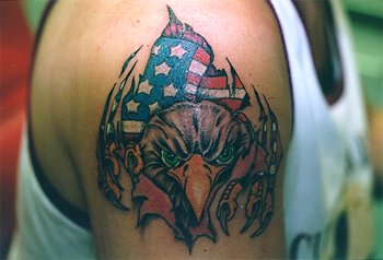 New Ink Patriotic Eagle Tattoo On Biceps