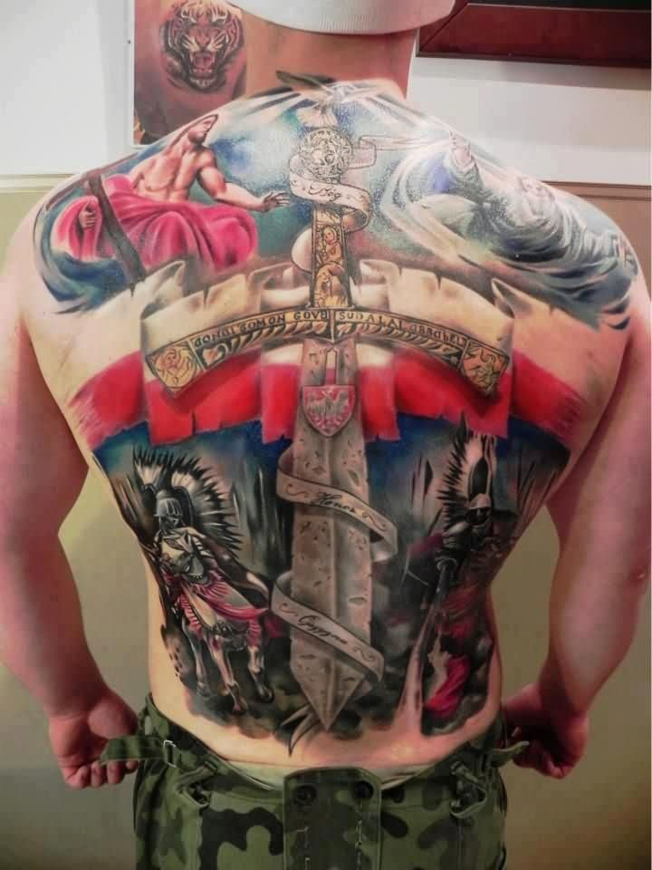 New Ink Patriotic Tattoos On Entire Back