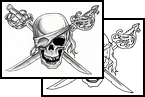 New Ink Pirate Tattoo Design