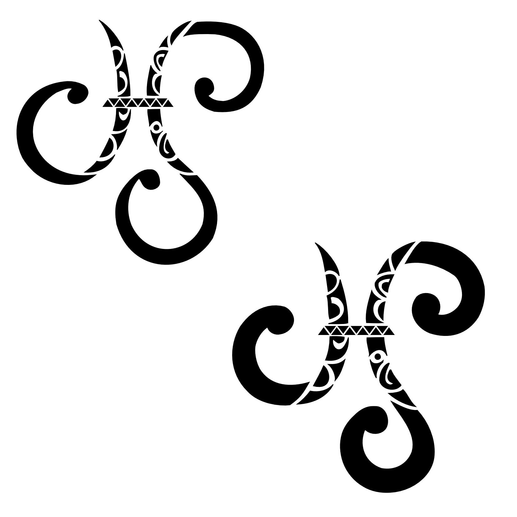 New Ink Pisces Symbol Tattoos