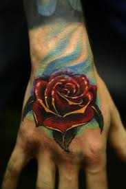 New Ink Rose Tattoo On Hand