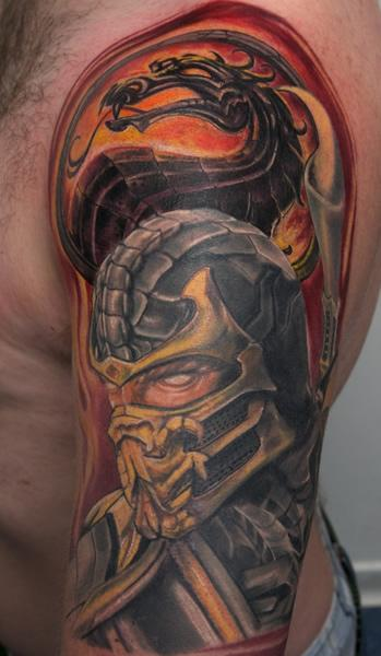 New Ink Scorpion Mortal Kombat Tattoos On Sleeve