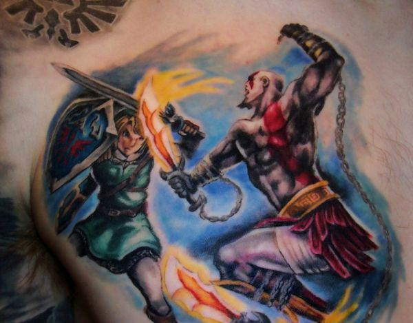 New Ink Video Game Tattoos On Chest
