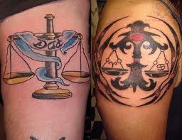 New Libra Symbol Tattoos