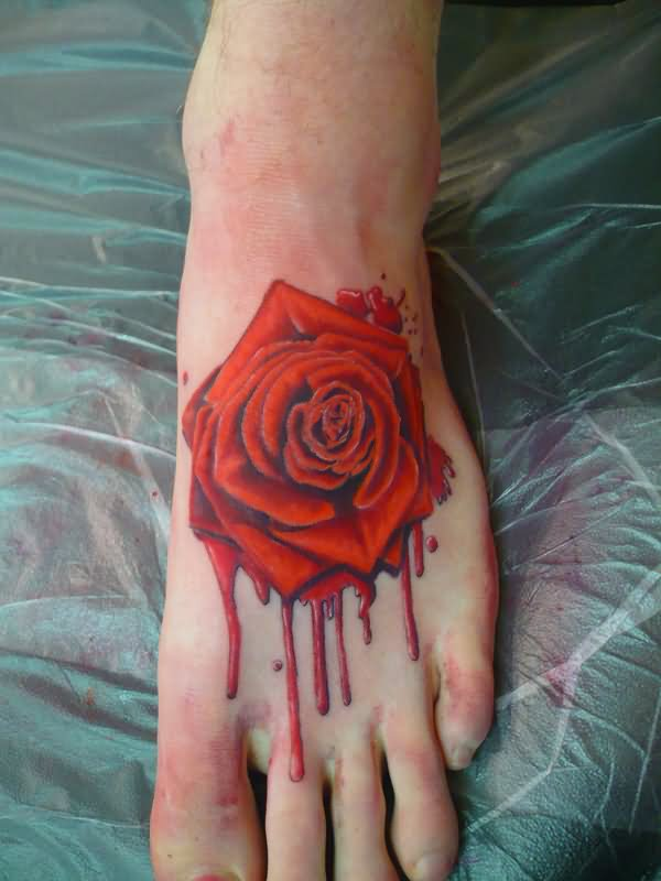 New Melting Rose Tattoo