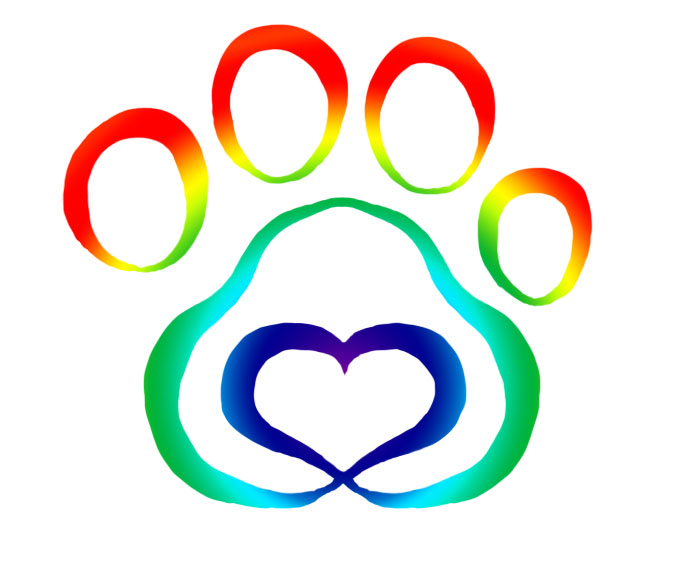 New Multi Color Paw Print Tattoo Sample
