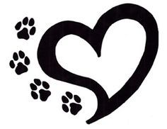 New Paw And Heart Tattoos
