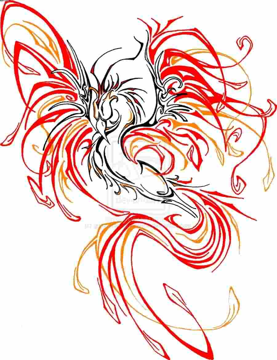 New Phoenix Tribal Tattoo Design