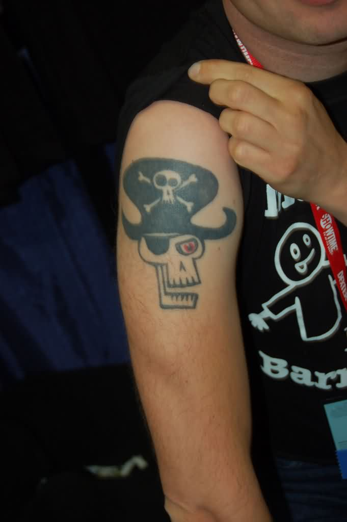 New Pirate Skull Tattoo Style For Men