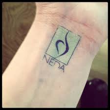 New Recovery Symbol Tattoo On Inner Wrist