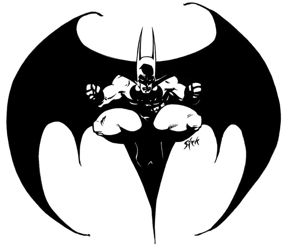 New Release Batman Logo Tattoo Sample