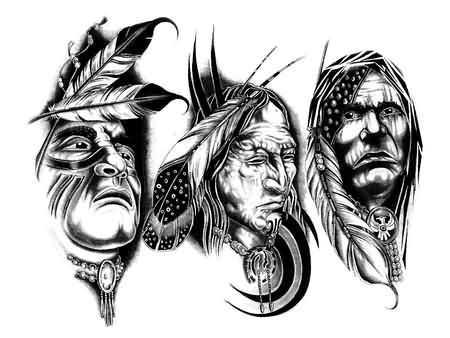 New Release Native American Tattoo Designs