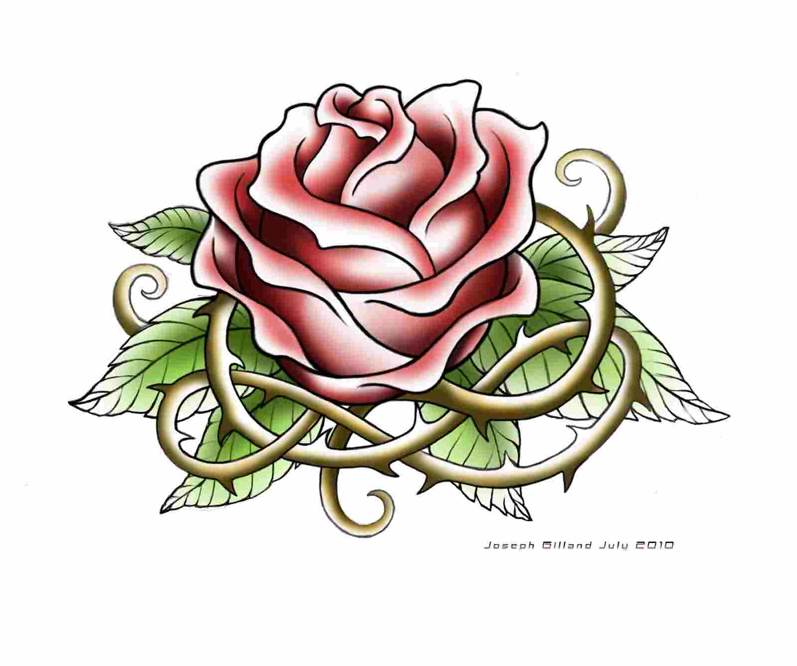 New Release Rose Tattoo Design
