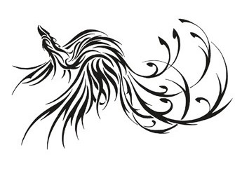 New Release Tribal Phoenix Tattoo Design