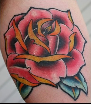 New School Rose Tattoo Photo