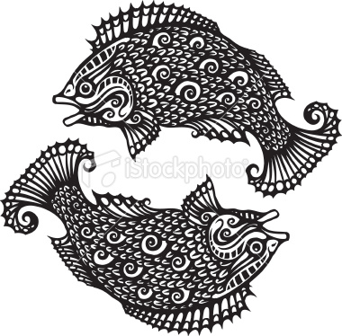 New Style Fish Pisces Zodiac Tattoo Design