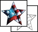New Style Patriotic Star Tattoo Design