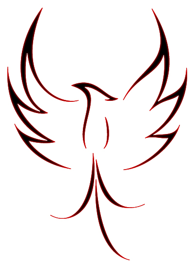 New Style Phoenix Tattoo Design