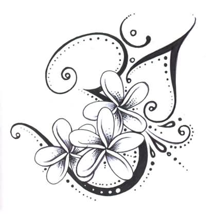 New Style Swirls And Flower Tattoo Designs