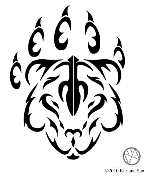 New Style Tribal Bear Paw Tattoo Design