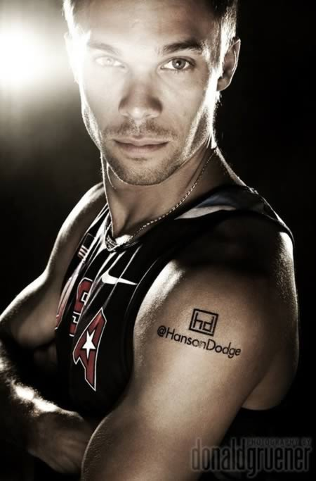 New Tattoo On Shoulder Of Olympic Athlete