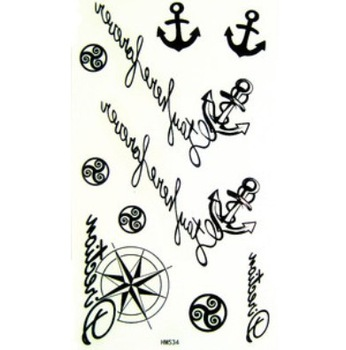 New Temporary Nautical Tattoos Stickers