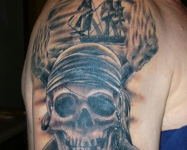 New Tremendous Pirate Tattoos On Arm
