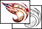 New Tribal Eagle Patriotic Tattoo Design