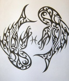 New Tribal Pisces Tattoos For Men