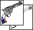 New US Flag Pistol Tattoo Sample
