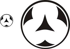 New White Black Symbol Tattoo Design