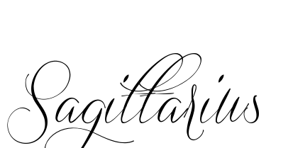 New Word Sagittarius Tattoo Design