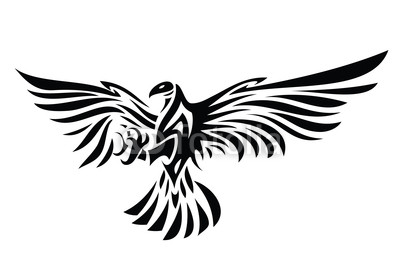 Newest Eagle Tribal Symbol Tattoo Design