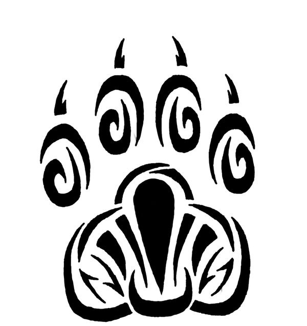 Newest Pawprint Tribal Tattoo Sample