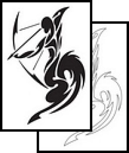 Newest Tribal Sagittarius Tattoo Design