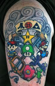 Newest Video Game Tattoos On Biceps